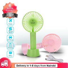 Mini Handy Fan 1200mAh Rechargeable USB Fan Portable Handheld Fan with 3 Speeds Pink