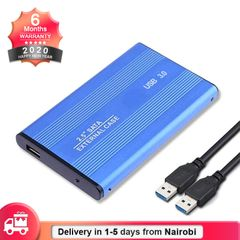 USB 3.0 Portable SATA HDD Enclosure External Case 2.5in Hard Disk Drive Box(HDD NOT Included) blue 2.5 Inch