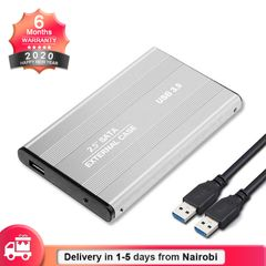 USB 3.0 Portable SATA HDD Enclosure External Case 2.5in Hard Disk Drive Box(HDD NOT Included) silver 2.5 Inch