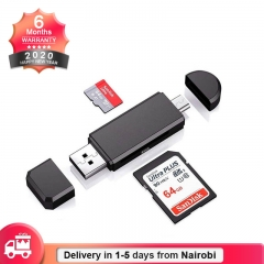 OTG Card Reader High-Speed Universal OTG TF/SD for Android Computer Extension Readers black Normal Unlimited Unlimited