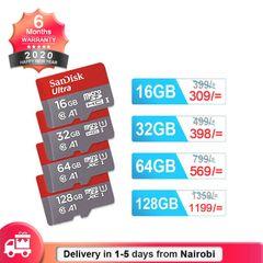 Sandisk Memory Card U1 Class10 Micro SD Card with Adapter 32GB 64GB 128GB SDXC SDHC Flash TF Card black SANDISK 64GB