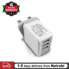UK Plug 3 USB Ports Wall Charger Travel Fast Charger Adapter Quick Current for Phone Mobile Tablet white charger 1