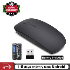 Oserate Slim 2.4GHz Optical Wireless Mouse Mice with Cordless USB Receiver for PC Computer Battery black one size