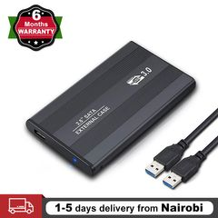 USB 3.0 Portable SATA HDD Enclosure External Case 2.5in Hard Disk Drive Box(HDD NOT Included) black 2.5 Inch