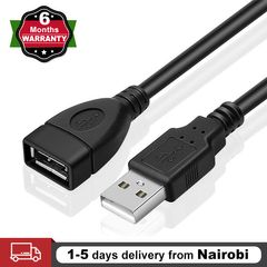 USB 2.0 Extension Cable A Male to A Female Adapter Cord Data Sync Cable 1.5m black