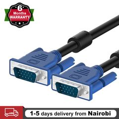 1.5M VGA to VGA Cable 15 Pin Male to Male PC Computer Monitor Cable 5 Feet Black