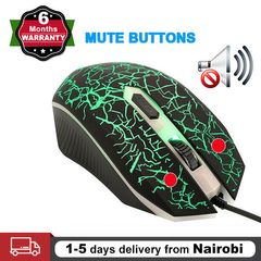 Gaming Mouse Wired USB Optical Computer Mice with RGB Backlit for Laptop PC Gaming Mouse black one size