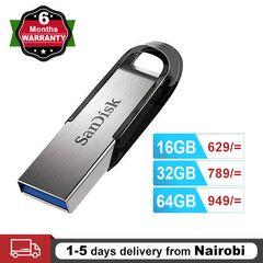 SanDisk Flashdisk Ultra Flair USB 3.0 Flash Drive 16GB 32GB 64GB  Flash Disk Memory Stick Pendrive silver SANDISK 64GB