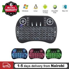 USB Wireless Mini Keyboard Touchpad 2.4GHz Portable LED Backlit Play Game Remote PS4 Android TV Box Black One Size