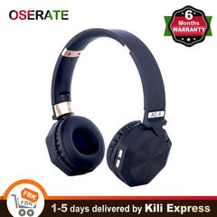 Wireless Bluetooth Headphone Over Ear Deep Bass Headset Microphone Noise Cancelling Radio for Phone Black