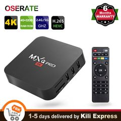 Mxq Pro Android TV Box 4K Ultra HD 4GB RAM 32GB ROM Android 7.1 Set top Box 2.4GHz Wifi Media Device