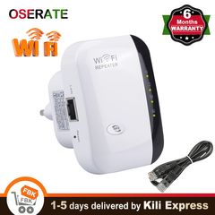 Wireless WiFi Repeater Wifi Range Extender UP to 300Mbps Wifi Signal Booster 2.4G Network LAN Port White