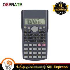 Scientific Calculator Science Calculator Multifunction LCD Display Student School Battery Black