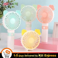 1200mAh Portable Fan Hand Rechargeable USB Foldable  Handheld Fan Random