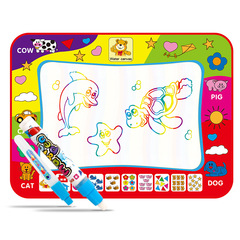 Water Drawing Pad Doodle Travel Mat Coloring Art Setting Educational Toy 78*57CM colourful L