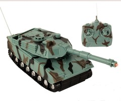 1:16 US Army Fighting Battle Tank, Remote Control Toys for Kids Blue L