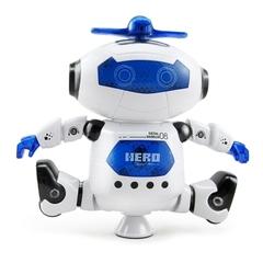 Kids Electronic Walking Dancing Robot with Music Light Fun Toy Blue normal