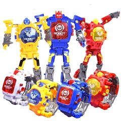 Transformation Robot Toys Electronic Watch Red normal