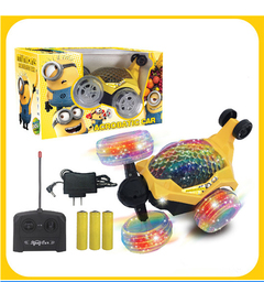Four-way stunt dumper child remote control vehicle Yellow Normal