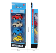 Diecast and Mini Toy Cars (Assorted Models), Pack of 4 RED&GRAY&BLUE&YELLOW NORMAL