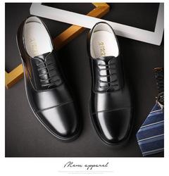 Classic officer's  genniue   leather shoes business dress men shoes lace-up shoes XL 38-46 size black 46 cow leather