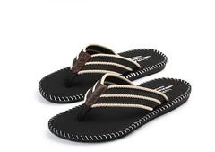 Flip-flops couple slippers men beach shoes Sandals Shoes black S(39-40)