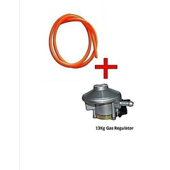 Gas Regulator For 13KG Cylinder +FREE Hose pipe- 2 meters Silver