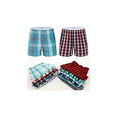 6 Pieces Boxer Shorts, Pure Cotton (Colors May Vary) MULTICOULORED M