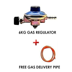 Gas Regulator for 6KG Cylinder Plus FREE Gas Delivery Pipe- 2 Meters