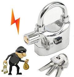 Tampeproof Anti-Theft Alarm Padlock (Big) Silver Large