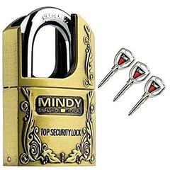 Mindy Hard quality padlock- Big Size Gold large