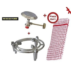 Meko 6kg Cooking Gas Grill + Gas Burner + FREE Kichen Towel Gift