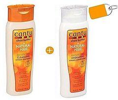 CANTU Cleansing Cream Shampoo + Hydrating Cream Conditioner white 2 in 1 pack
