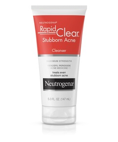 Neutrogena Rapid Clear Stubborn Acne Cream Cleanser white
