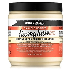 Aunt Jackie's Fix My Hair Intensive Repair Conditioning Masque Yellow 15 Oz