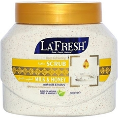 La Fresh Deep Exfoliating Milk & Honey Scrub off-white