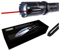 Self-Defense Tizzer Torch With Electric Shock & Laser Pointer Black 16cm 1