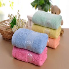 Best Price 3 PCS Cotton towel Abersobent and soft  quick dry home towal 1blue+1pink+1yellow 34*75cm