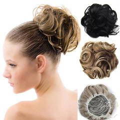 American pop hair puffy natural pull rope curly hair ball hair wreath female hair trim hair Q6  6# normal