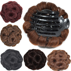 Hair Pack Dumb Light High Temperature Silk Wig Pack Nine Flowers Wig Pack Bride Coil Hair Curl Pack light brown2M30# normal