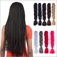 Monochromatic chemical fibre braid African dirty braid wig hair receipt braid twist braid 1# normal