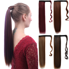 Lifestyle matte straight hair wig ponytail magic stick around wig straight hair ponytail Hair Pieces 1# normal