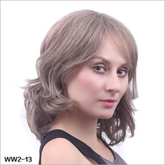 European top-selling wig head set Short-style head set Inclined Liu Hai curly lady head set WW2-13 normal