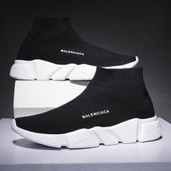 Men Women Fashion Sneakers Running Shoes black 39