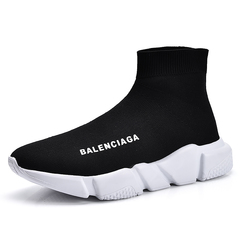 Women Men Fashion Balenciaga Retro Comfort Mesh Socks Shoes Black 40