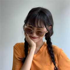 Retro Thick Frame Cat Eye Sunglasses Women Ladies Fashion Mirror Lens Cateye Sun Glasses For Female brown one size