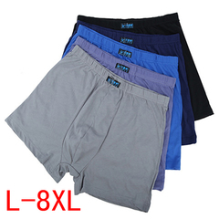 Promotion 3 or 5 Pack Hot Sale Men's Boxer Briefs, Cotton High Waist Shorts,  Breathable Underwear 3Pc colors random L