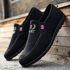 Hot Sale New Men's Shoes, Canvas Slip-proof Shoes, Wear-resistant Comfortable Leisure Single Shoes black 43