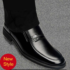 Hot sale men's PU casual shoes, men's business shoes, British style shoes, classic breathable shoes, black 41 pu leather