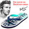 Men's Slippers, Flip-Flops Rubber No-Slip, Star Wears Flip-Flops, Social Trends Beach Shoes green 39